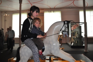 Looked unimpressed with the horse-riding!