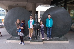 Outside the Museum of London