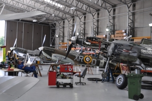 Private planes in hangar 2