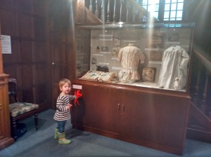 Vestry House museum Easter trail - panelled costume gallery