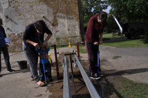 Launching water rockets at Royal Gunpowder Mills